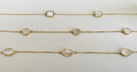 14krt gouden armbandje met parelmoer