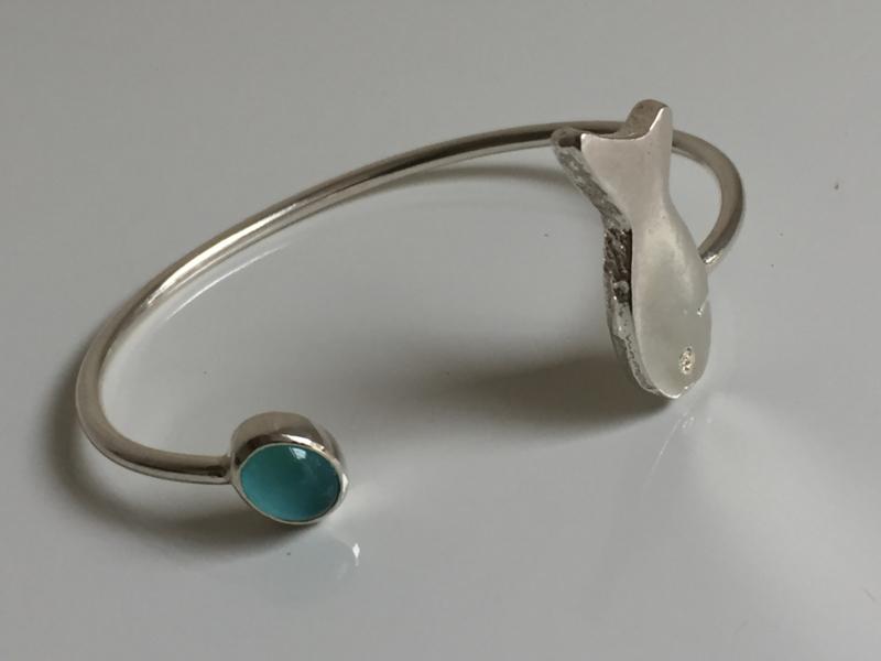 Zilveren armband met Vis