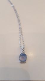 BeJewels - Zilver met blauw steentje nr. 150555