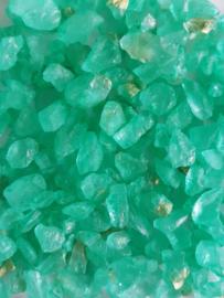 Mint green rocks