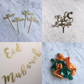 Eid mubarak set goud