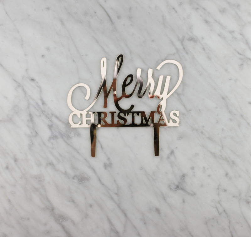 Merry Christmas taarttopper