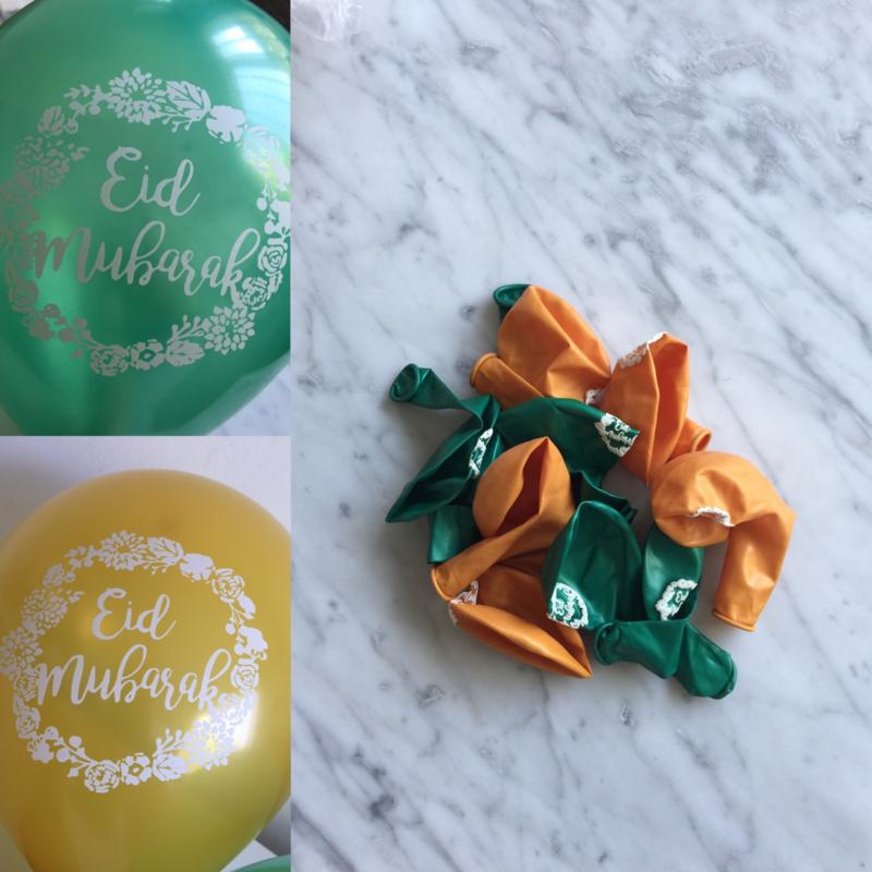 Eid mubarak balloons