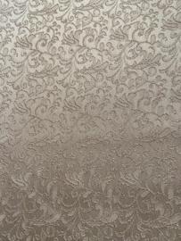Polyester 100% beige glans 130 x 140 cm