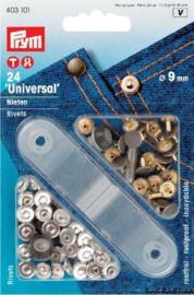 Prym Siernieten 9mm zilver  403101