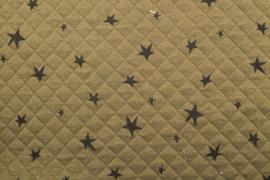 STEPPED FABRIC BEDRUKT MET STER 10403/027 per 25cm