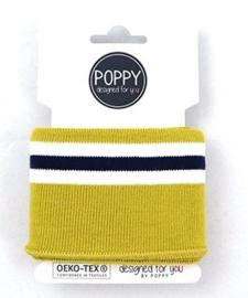 Poppy boord Mosterd geel  1m