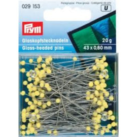 Prym Glaskopspelden 43x0.60mm 20gr