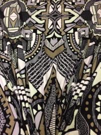 Tricot Zwart-Mint-Beige 2265/027 per 25cm