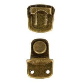 Tassluiting klein oud goud