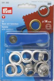 Prym 10 Ringen met schijven 14mm 541383