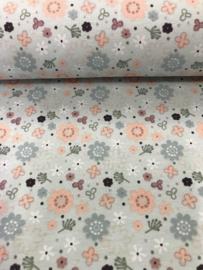 Bedrukt tricot Bloemen 3484/021 per 25cm