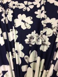 Tricot Bloemen Mint-blauw NB 2260/021 per 25cm