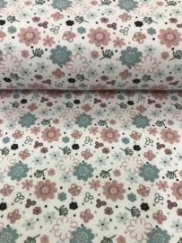 Bedrukt tricot Bloemen 3484/050 per 25cm