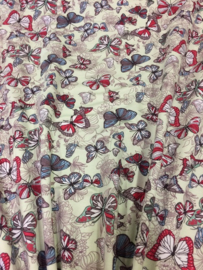 Tricot Mint Butterfly NB 2294/021 per 25cm