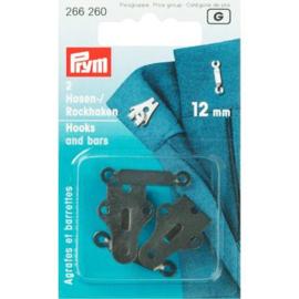 Prym 2 rok-en broekhaken 12mm 266260