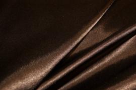 Satijn rekbaar Bruin NB 4241/155 per 25cm