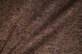 Gebreide gemeleerd donker bruin stof 9078/053 per 25 cm