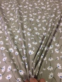 GroenBeige met wit bloempje NB 2134/052 per 25cm