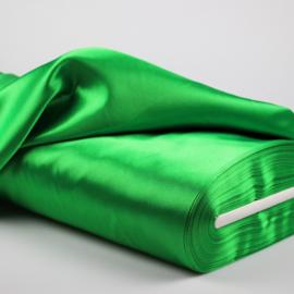 Satijn groen 140cm breed prijs/25cm