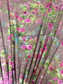 Tricot Oud Roze bloem NB 2313/011 per 25cm