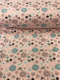 Bedrukt tricot Bloemen 3484/012 per 25cm