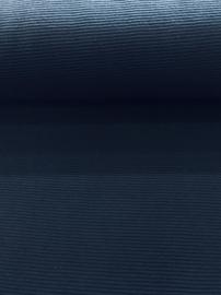 Geribde tricot Donker Blauw 6983-004