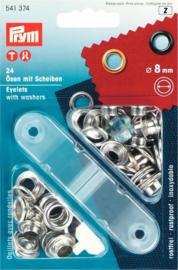 Prym zilver eyelets ringen 8mm 541374