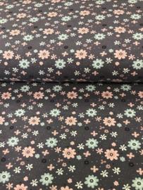 Bedrukt tricot Bloemen 3484/045 per 25cm