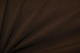 Bi-stretch crêpe Donker bruin 2773/058 per 25cm