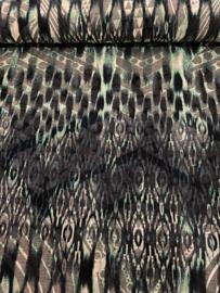 Bedrukt stof fluweel 9388/024 per 25cm