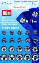 Prym Aannaai drukknopen 6-11mm 341270