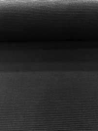 Geribde tricot Zwart 6983.001