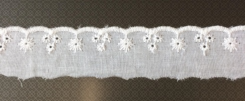 Broderie band wit 3cm / m