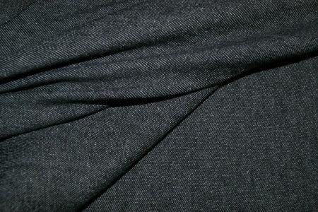 Spijkerstof  Soepel Zwart NB 0500/069  1.40m breed per 25 cm
