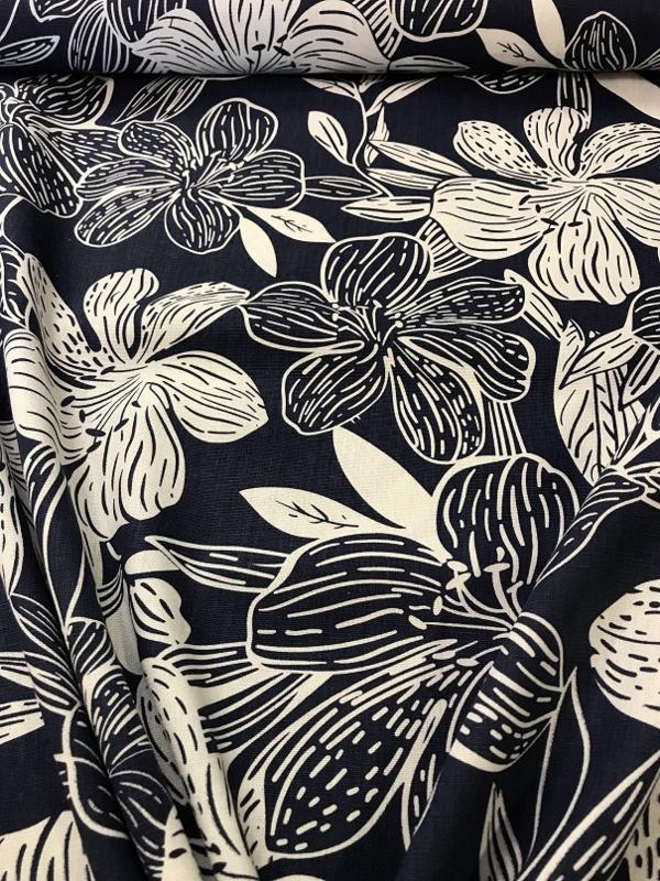NB 04148/006 Blauw-wit bloem per 25cm