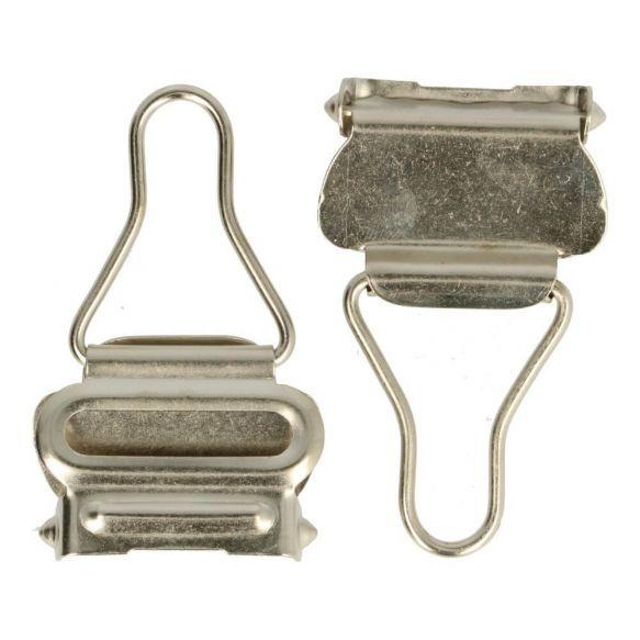 Tuinbroek sluiting 25mm zilver
