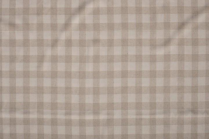 LINNEN VISCOSE EMBRODERY CHECK 11563/151 / 25cm