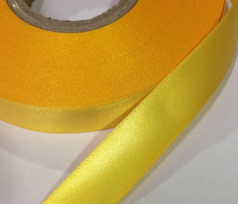 Satijn lint Geel 30mm