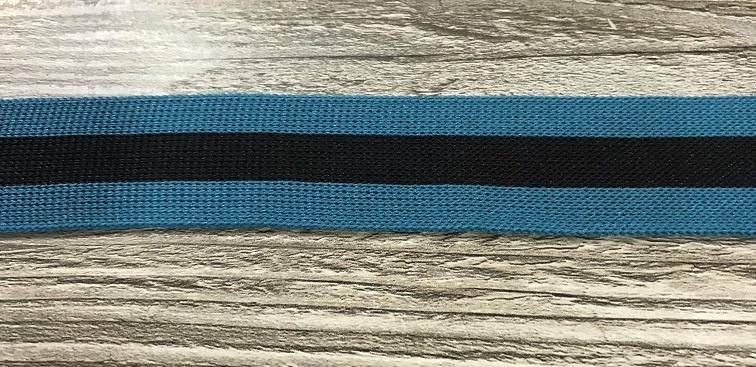 Flexibel band gestreept Blauw-zwart 25mm breed