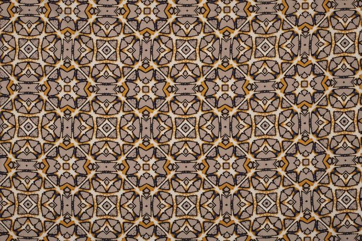 VISCOSE BEDRUKT MET BATIK PRINT 11548/052 /25 cm