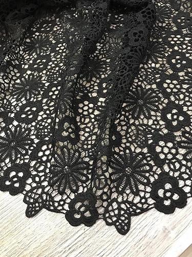 Kant Floraal zwart 04650/069 / 25cm