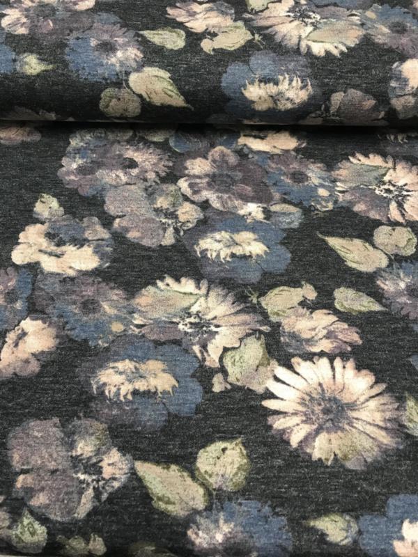 Ponti Roma bedrukt met bloemen 3103/007 per 25 cm