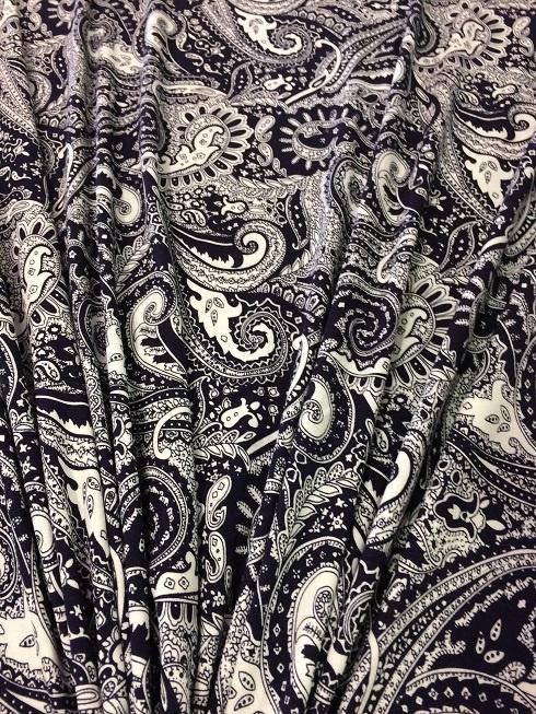 Tricot Blauw fantasy 2306/008 per 25cm