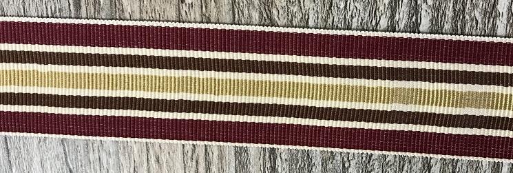 Ripsband 25mm breed bordeaux, beige, bruin