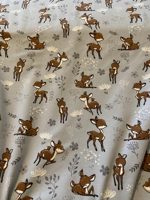 Bambi Grijs 03689/062  150cm br  per 25cm
