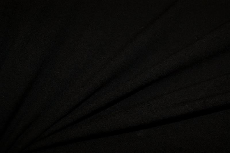 Bi-stretch crêpe Zwart  NB2773/069 per 25cm