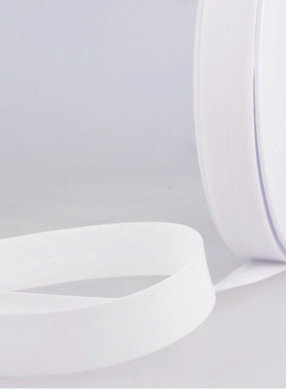 Biaisband wit 20mm prijs per halve meter