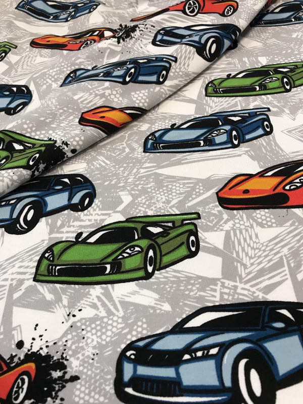 Racing Cars by Poppy 05488.001 per 25cm