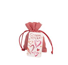 Crayon Rocks Crayon Rocks Hart / Valentijn  met 20 kleuren sojawaskrijtjes